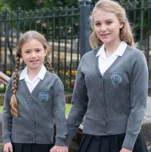 Girls Cotton School Cardigan - Trutex