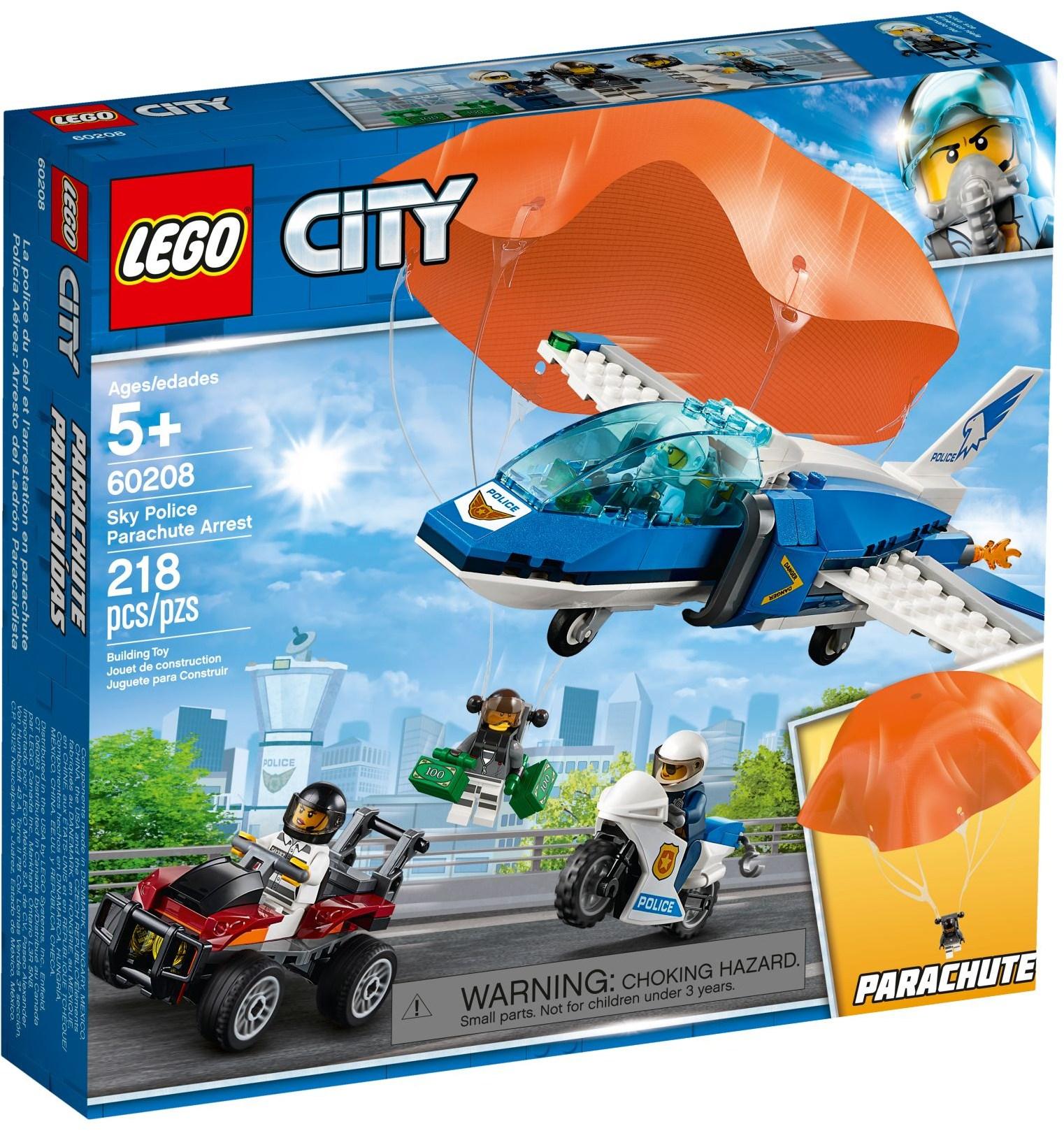 LEGO SKY POLICE PARACHUTE ARREST - 60208