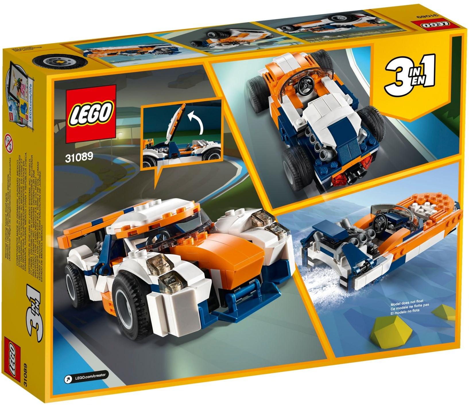 LEGO SUNSET TRACK RACER - 31089