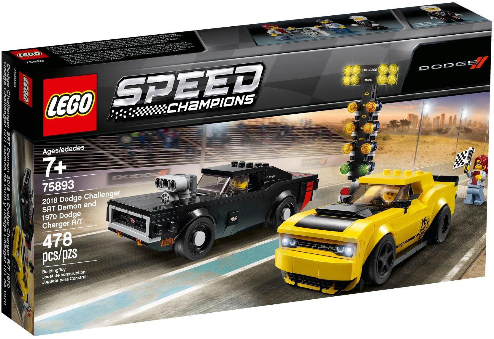 LEGO DODGE 2018 CHALLENGER HELLCAT & HOT ROD - 75893