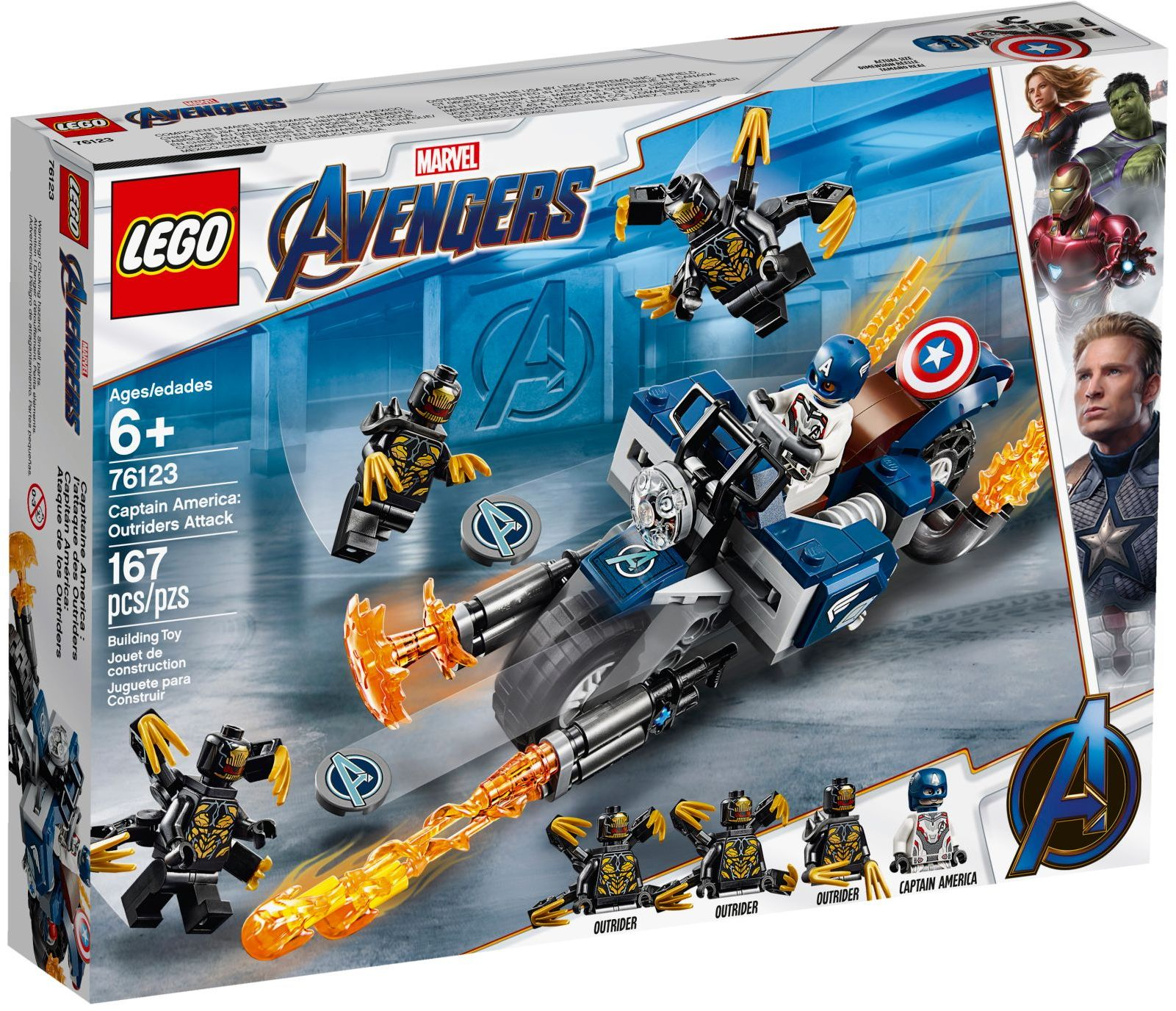 LEGO CAPTAIN AMERICA: OUTRIDERS ATTACK - 76123
