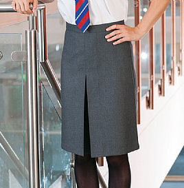 Banner A-line Skirt with Inverted Pleat (Thornton)