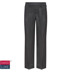 David Luke Elastic Back Slim Fit School Trouser