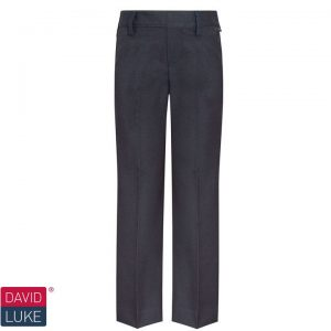 David Luke Elastic Back Slim Fit School Trouser