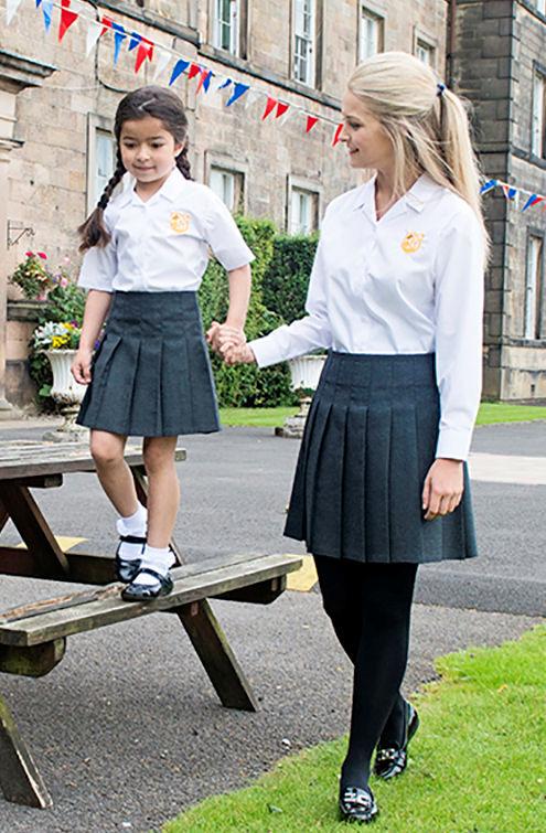 Trutex Girls Stitch Down Pleat Skirt