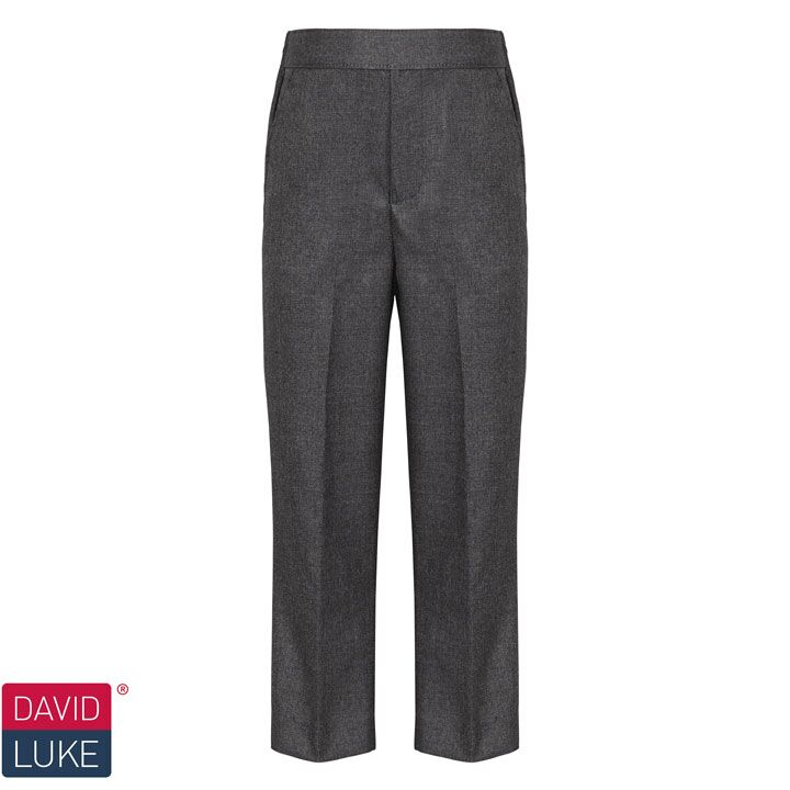 David Luke Pull Up Slim Fit School Trouser