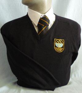 Axe Valley Academy Cotton Girls V-Neck Pullover