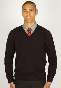 Unisex V-Neck Cotton Pullover - Trutex