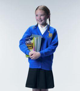 Plain Woodbank School Sweatshirt Cardigan