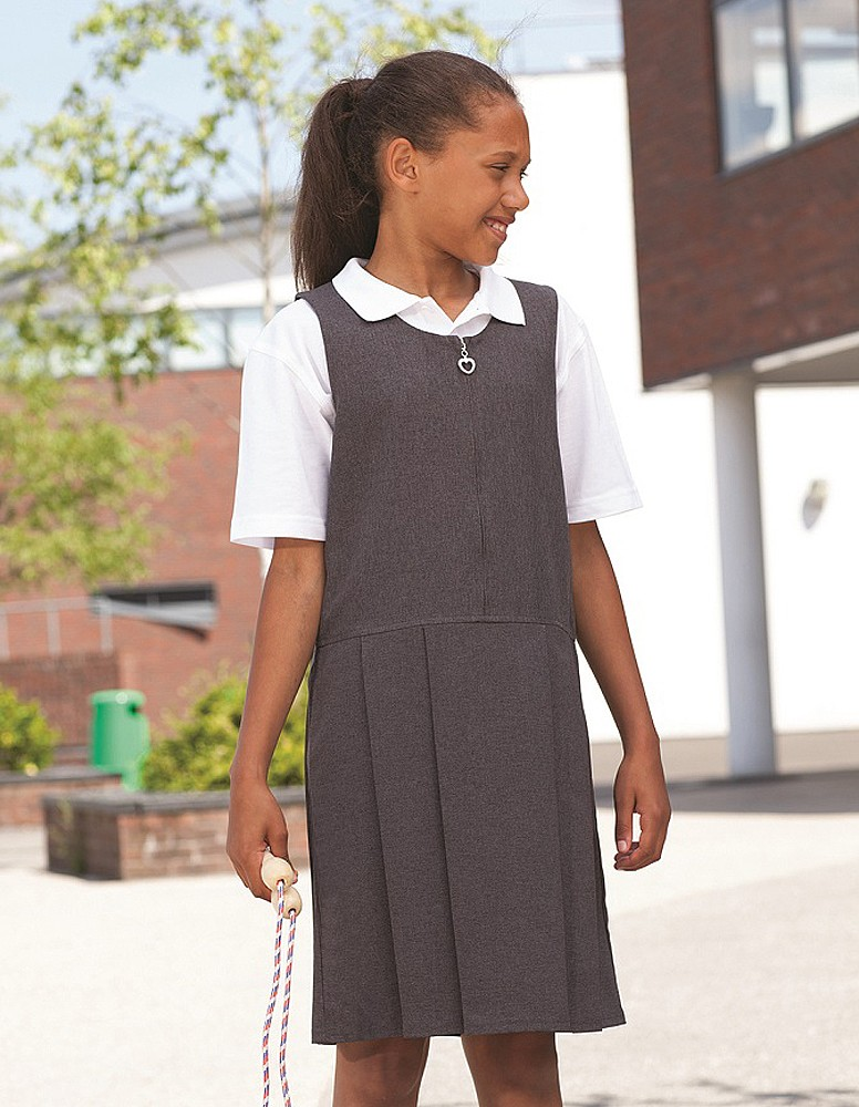 Banner Pleated School Pinafore (Lynton)