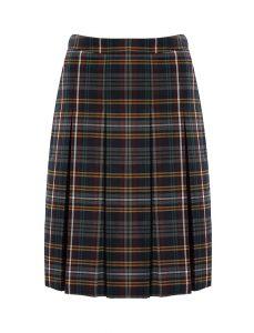 Banner Stitch Down Pleat Tartan Skirt