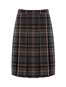 Banner Stitch Down Pleat Tartan Skirt