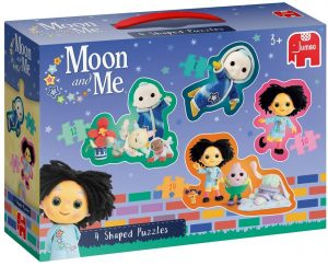 Jumbo 19743 Moon and Me - 4 in 1 Shaped Puzzles