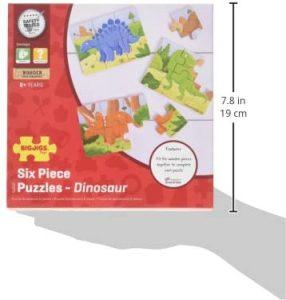 Bigjigs Toys Dinosaur Puzzles Set - Wooden JigsawBigjigs Toys Dinosaur Puzzles Set - Wooden Jigsaw