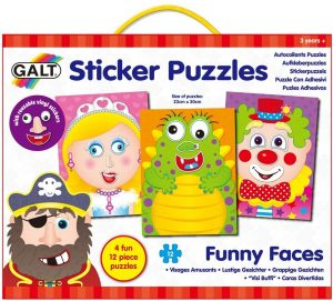 Galt Toys Funny Faces Sticker Puzzle