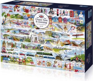 Gibsons Cream Teas & Queuing Jigsaw Puzzle (1000 Pieces)