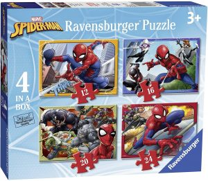 Ravensburger Marvel Spider-Man 4 in Box (12, 16, 20, 24pc) Jigsaw Puzzles