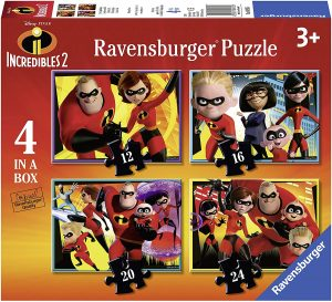 Ravensburger UK 6970 Disney The Incredibles 4-in-1 Box Jigsaw Puzzles