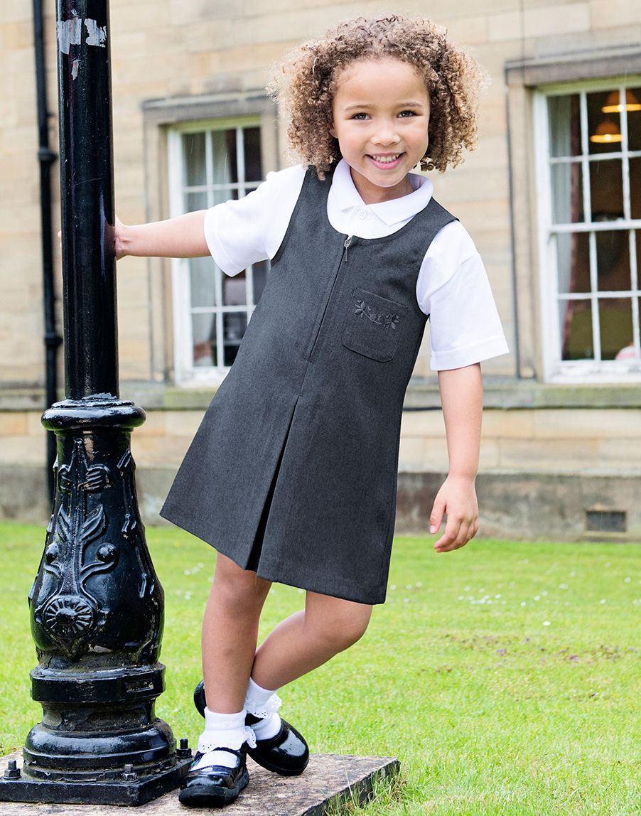 Trutex Embroidered Zip School Pinafore