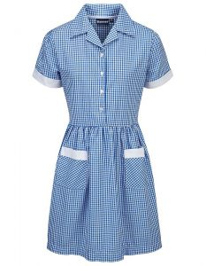 Gingham Button Front School Summer Dress (Ayr)