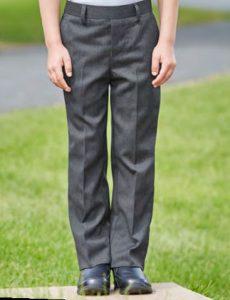 Elastic Back Slim Fit School Trouser