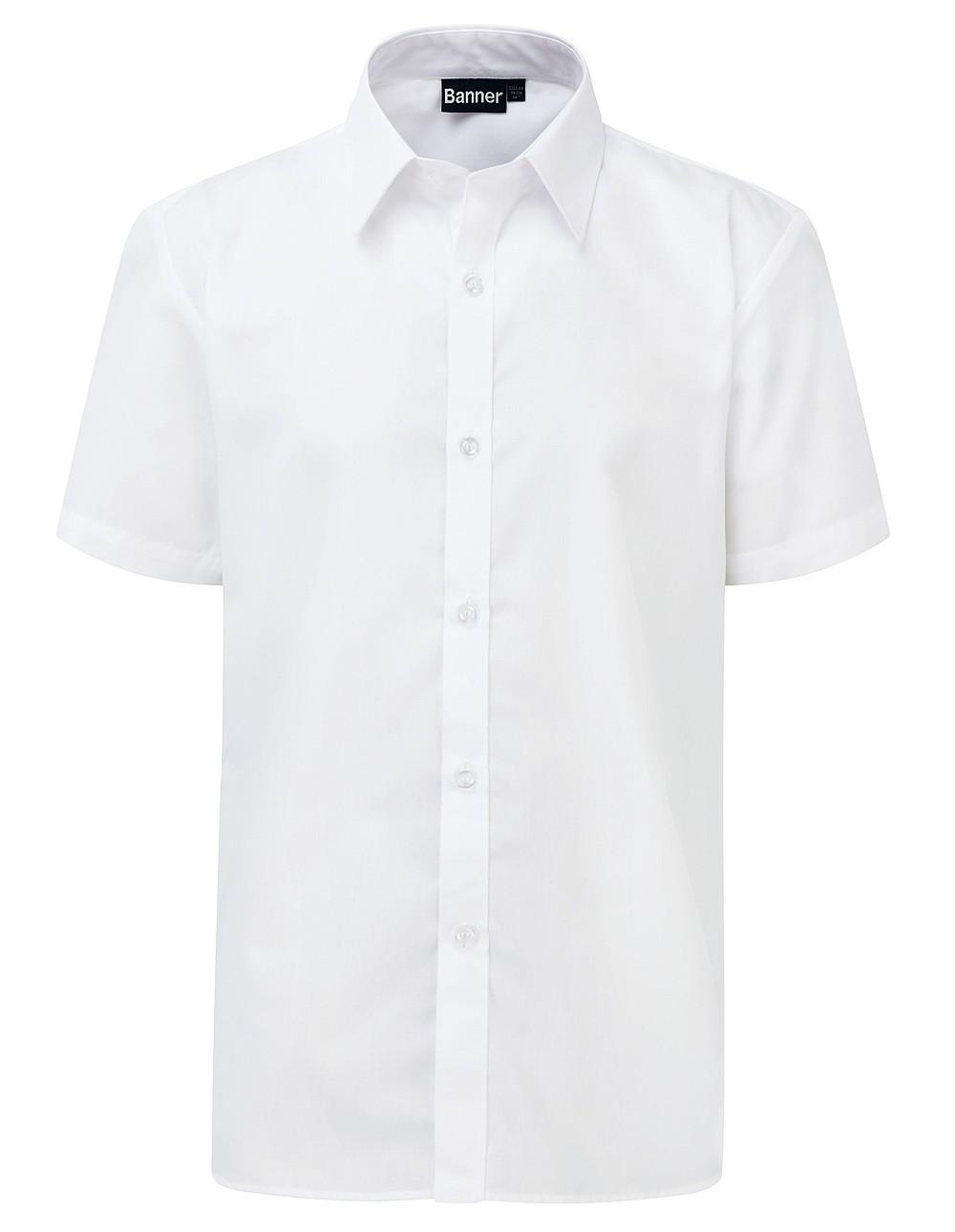 Short Sleeve Slim Fit Non Iron Shirt - Twinpack (Banner)