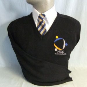 Honiton Community College Cotton V-Neck Pullover