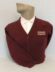 Ladysmith Federation Embroidered Sweatshirt Cardigan