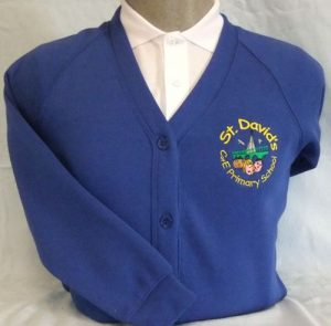 St David Primary School Sweatshirt Cardigan