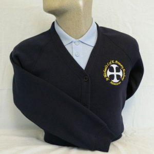 St Michaels Primary School Embroidered Sweatshirt Cardigan