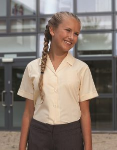 Short Sleeve Rever Collar Non-Iron School Blouse -Twinpack (Banner)