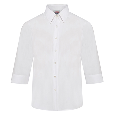 3/4 Sleeve Fitted Non Iron School Blouse