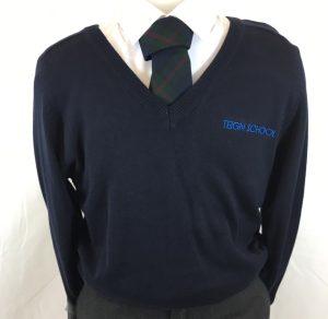 Teign School V-Neck Pullover
