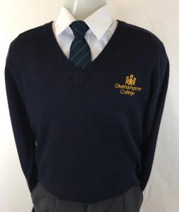 Okehampton College Unisex Cotton V-Neck Pullover