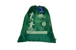 Side Drawstring Shoe Bag with Printed Logo