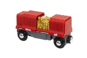 BRIO CARGO WAGON WITH GOLD