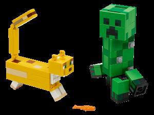 LEGO BIG FIG CREEPER & OCELOT - 21156