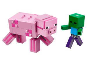 LEGO BIG FIG PIG WITH BABY ZOMBIE - 21157