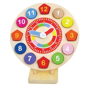 JUMINI LEARN TO TELL THE TIME TEACHING WOODEN CLOCK