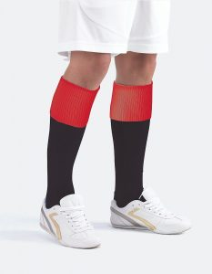Football Sock with Contrast Turn Over Top