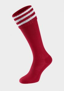 Football Sock with White Striped top