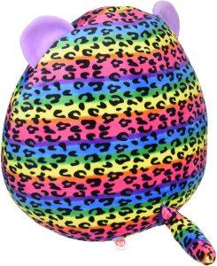 "Ty UK Ltd 39186 Dotty Leopard Squish A Boo Plush Toy, Multicoloured, 12"""
