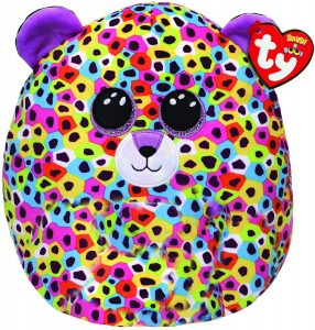"""Ty UK Ltd 39188 Giselle Leopard Squish A Boo Plush Toy, Multicoloured, 12"""""""