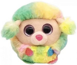 Ty UK Ltd 42511 Rainbow Poodle Puffies Plush Toy, Multicoloured, 7cm