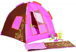 OUR GENERATION - POLKA DOT CAMPING ACCESSORIES SET