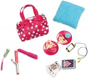 OUR GENERATION - POLKA DOT SLEEPOVER ACCESSORIES SET