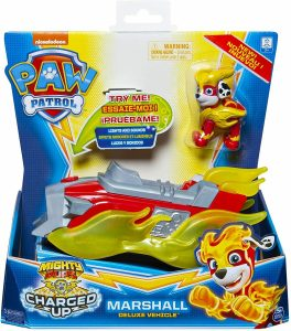 Paw Patrol Mighty Pups Charged Up - Marshall Deluxe Vehicle