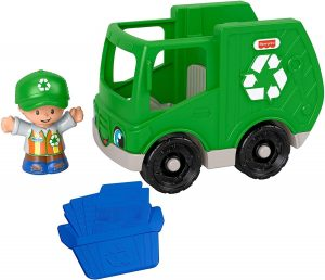 Fisher-Price Little People Vehicle and Figure - Recycling Truck and Man