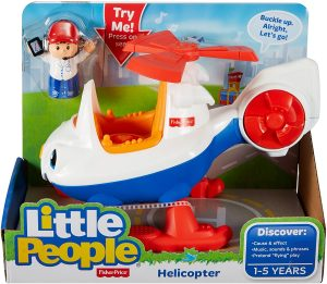Fisher-Price Little People Vehicle and Figure - Helicopter
