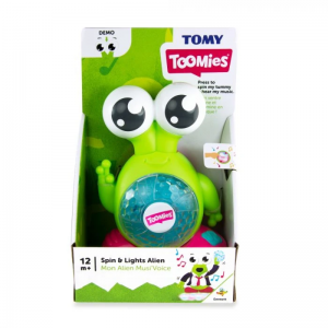 TOMY Toomies Spin & Lights Alien Interactive Musical Toy